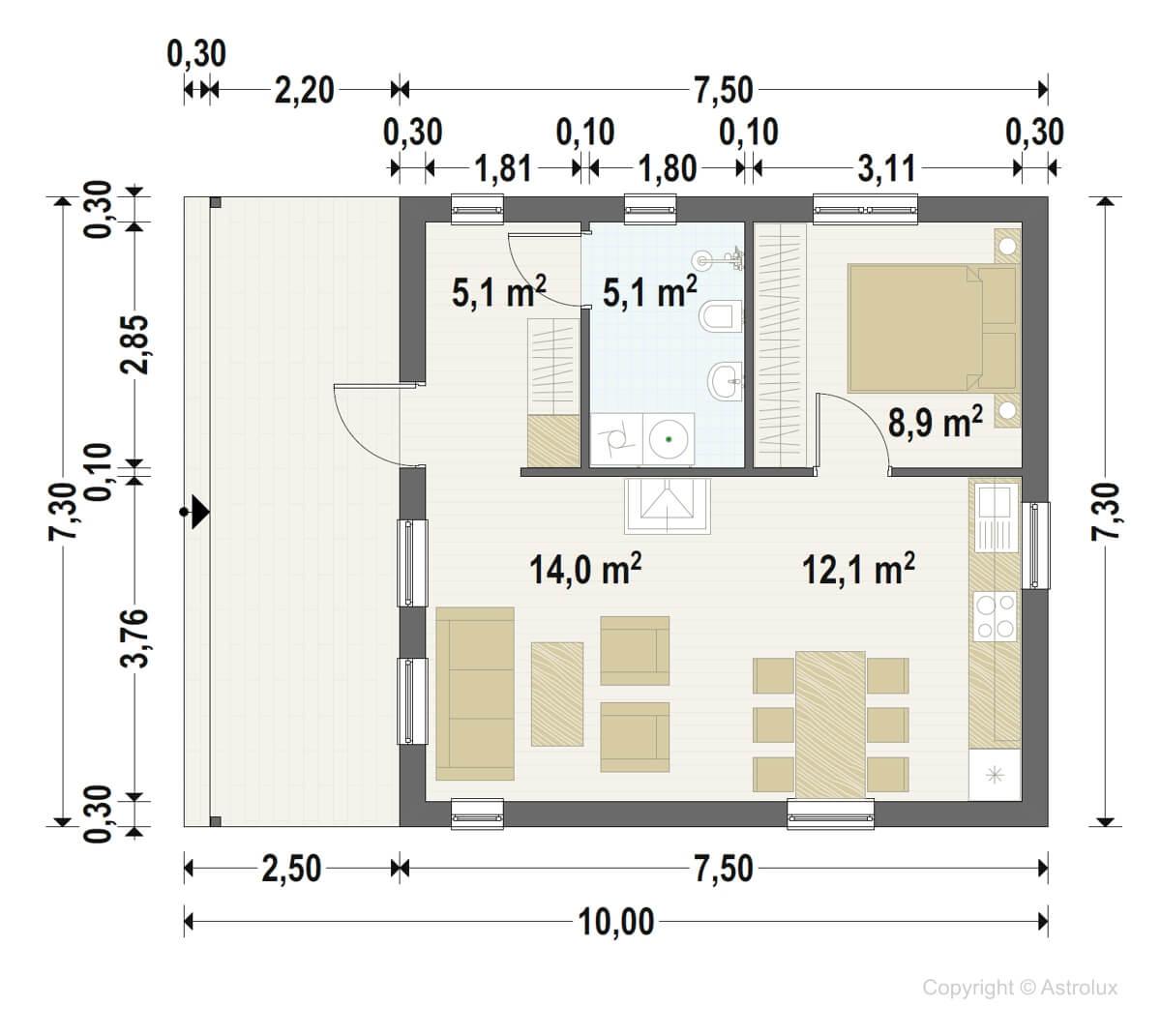 elementmajad moodulmajad astrolux A73-3